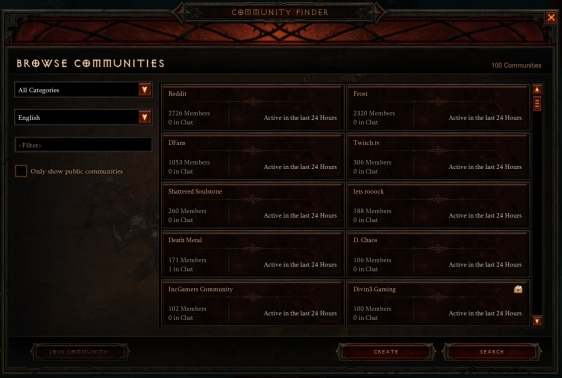 Diablo 3 - Community Finder
