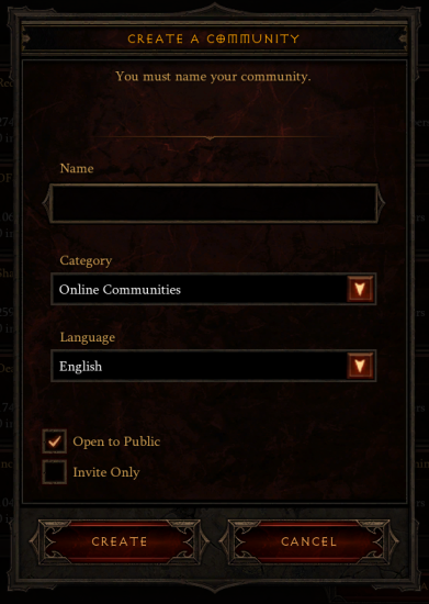 Diablo 3 - Create a Community